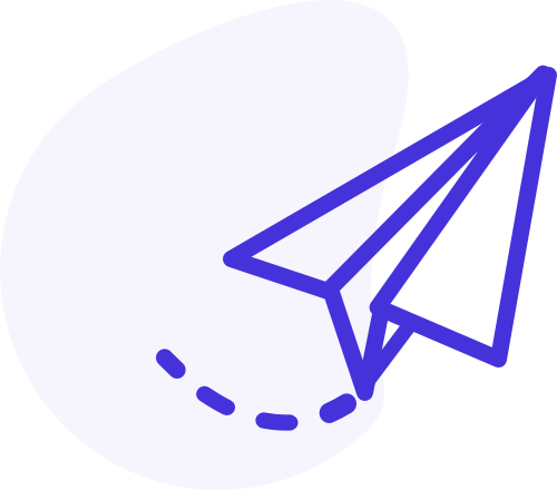 Zeichnerische Darstellung eines Papierfliegers, soll einen Newsletter inszinieren