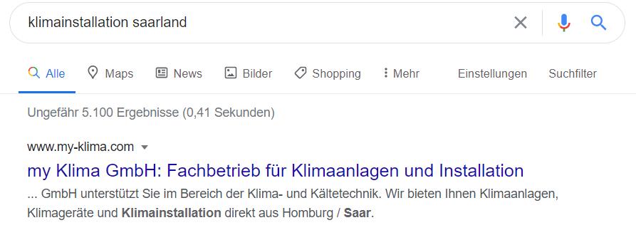 SEO Klimainstallation Saarland