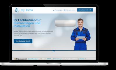 my Klima GmbH Webseite Mockup